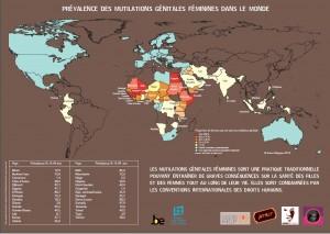 Carte où sont pratiqués les excisions