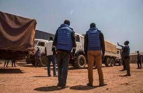 """Résultat de recherche d'images pour """"image du convoi humanitaire arrivé a bangui"""""""