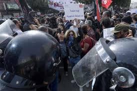 """Résultat de recherche d'images pour """"image de manifestation samedi 06 fevrier 2021 en tunisie"""""""