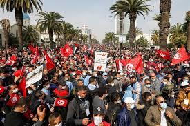 Tunisie: Importante manifestation à l'appel du parti Ennahda